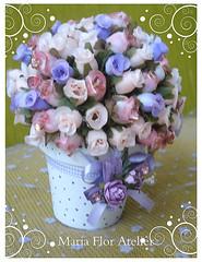 Sonho lils! Mini-topiara (Maria Flor Atelir) Tags: craft felt corao juta minirosa
