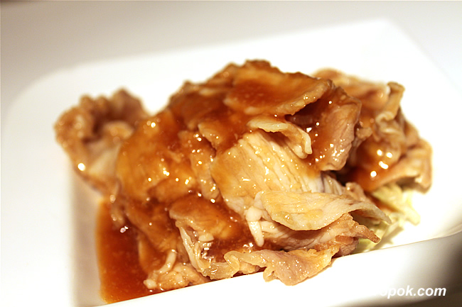 Sliced Pork with Garlic Sauce
