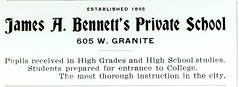 James A. Bennett's Private School, Butte, Mont...