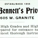 James A. Bennett's Private School, Butte, Montana (1901)