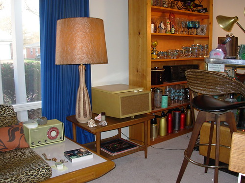Chocolate Lamp, Danish Table & Record Player