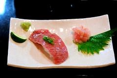 Beef sushi, along Oharai Machi, Ise