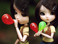 Two flavors (cgines) Tags: diptych pullip kaela crazylabel bubblefun