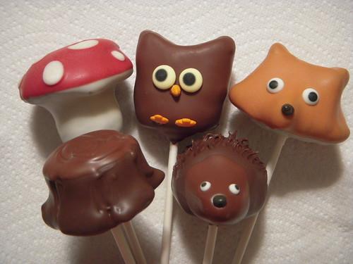 Woodland cake pops