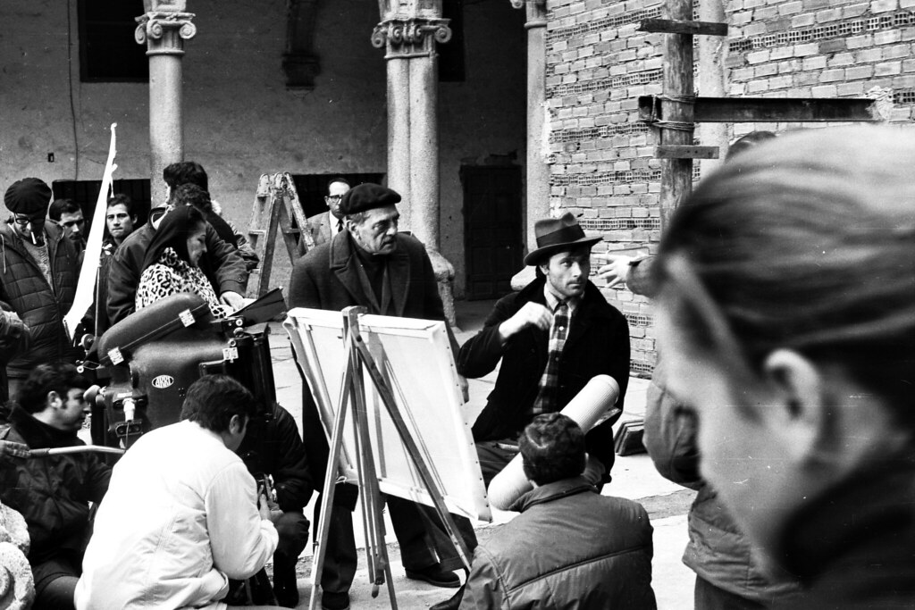 Rodaje de Tristana de Luis Buñuel en San Pedro Mártir. Fotografía de José Ponos