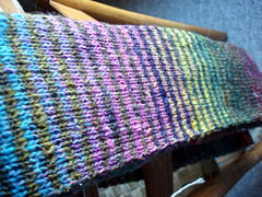 Noro Striped Scarf, finished