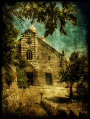 In an undefined time in Portovenere (in eva vae) Tags: old sea italy art church leaves eva italia liguria foreshortening romanesque portovenere processed textured laspezia sailsevenseas inevavae kernotart