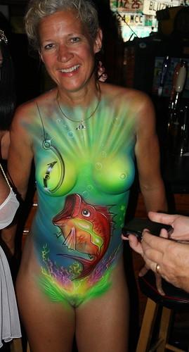 Green Water Lady - Key West, Florida