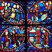 Elizabeth Zachariah|Bourges John Baptist Window Bottom Panels