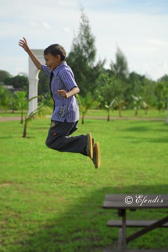 Haikal's shy jump