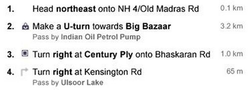 Google Maps Landmarks