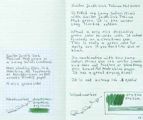 Sailor Jentle Ink Tokiwa Mat Green
