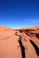entrance to lower antelope canyon (russ david) Tags: sandstone entrance canyon september antelope lower slot 2009