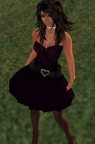 Sn@tch plum party dress