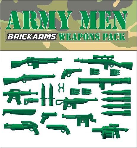 BrickArms Army Men Weapons Pack