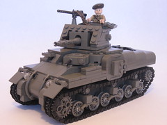 "Canadian Ram Tank Mk.II (final version) (""Rumrunner"") Tags: army gun tank lego wwii machine canadian ww2 ram armour worldwar2 mkii allies brickarms m1919"