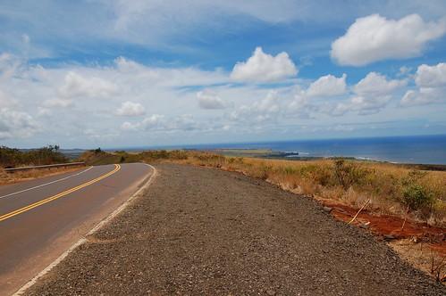 the drive up Waimea