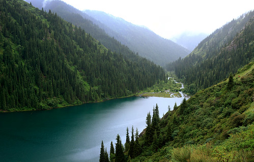 Kolsai Lake and the River