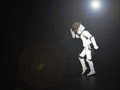 Moonwalker (slidercleo) Tags: toy inmemory actionfigure starwars stormtrooper michaeljackson moonwalk billiejean tk027 19582009