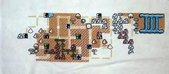 Work In Progress - Mario Map 2 (Cross-stitch ninja) Tags: crossstitch videogames nes supermario geekcraft