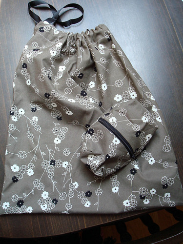 drawstring bag + zippy pouch