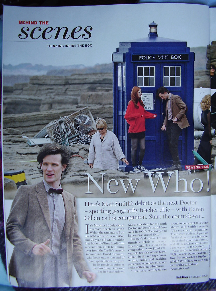 MATT SMITH - RADIO TIMES 1st day Filming