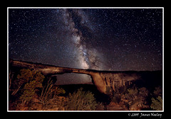 Owachomo Bridge under Starry Skies (James Neeley) Tags: nightphotography nature stars landscape utah nikon darksky starrynight milkyway naturalbridgesnationalmonument owachomobridge mywinners d700 jamesneeley eisf2009