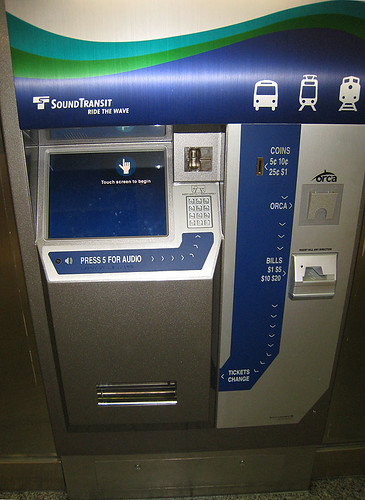 Sound Transit Ticket Machine
