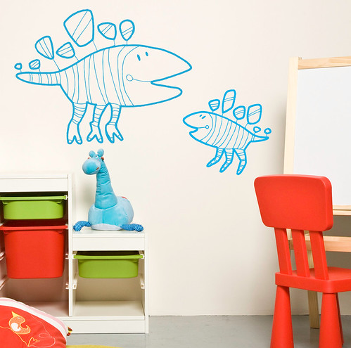 Decorative wall decal || DinozO