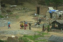 Salesman at the Village (Swami Stream) Tags: india canon rebel village gurgaon haryana xti swamistream swamistreamcom