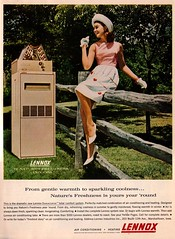 Lennox Ad (saltycotton) Tags: hat vintage magazine ad advertisement gloves 1960s heating 1964 lennox airconditioning housebeautiful