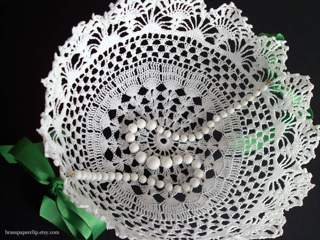 Doily Flower Girl Basket