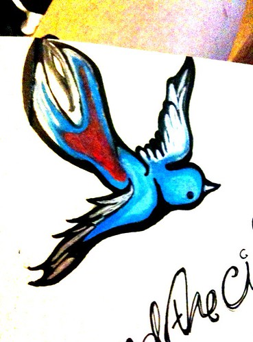 Swallow / bluebird tattoo design