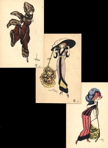 Parisian Fashion Postcards