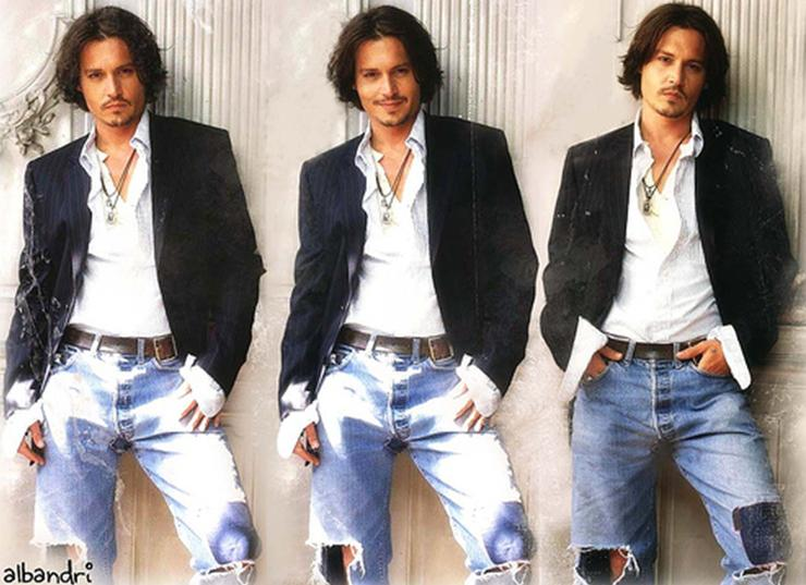 Johnny Depp in jeans 2