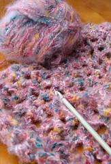 Crochet shawl in progress