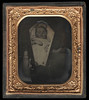 Post Mortem Tintype Photo of Baby in Coffin (Ballyhooligan) Tags: baby cemetery dead death infant tombstone casket fluid funeral embalming vault macabre corpse coffin director dying russian sleigh hearse mortuary embalm infanticide