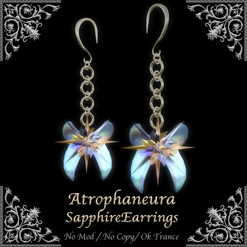 AtrophaneuraSapphireEarrings