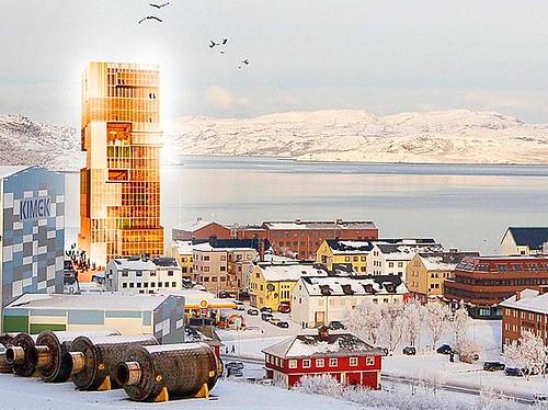 rendering of the Norwegian Barents Secretariat (by: Reiulf Ramstad Architects via BarentsObserver.com)
