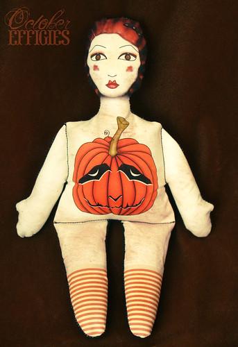 Jack O'Lantern Doll Stuffed Print