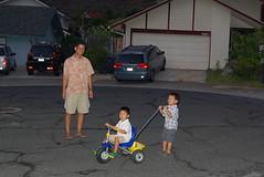 Braden giving Owen a ride