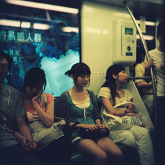 CNV000004 (likuku) Tags: china color 120 6x6 film girl zeiss subway square fuji shanghai metro superia negative 135 ikon superikonta c41 53116 liphoto