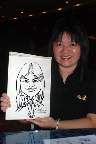 Caricature live sketching for The Law Society of Singapore - 5