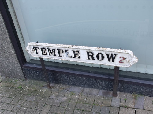 Temple Row road sign