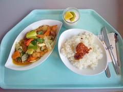 Geflgel mit Gemse & Kokos / chicken with vegetables & cocos (JaBB) Tags: food chicken vegetables lunch essen rice reis mittagessen kantine gemse cocos foodblog nahrung geflgel kokos asiatisch foodblogger fruchtquark