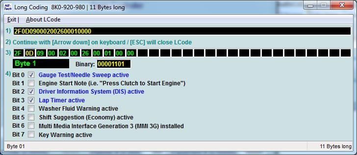 Long Coding For Audi Quot 17 Instrument Cluster Quot Obdeleven
