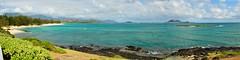 Kailua Beach Park Panorama (eschborn.photography) Tags: ocean panorama beach water clouds hawaii pretty oahu turquoise kailua lanikai kailuabeach eschborn marinebase hawaiiansummer eschbornphotography