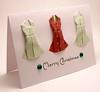 Origami Dress Christmas Card