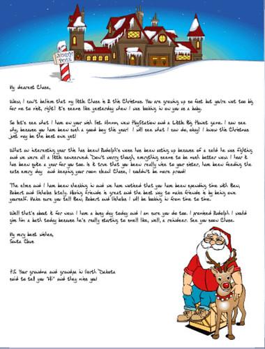 Blog Arival Personalized Santa Letter