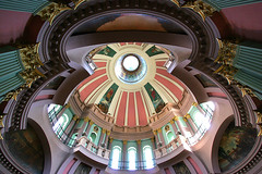 Dome of the Old St. Louis County Courthouse (stormdog42) Tags: up architecture interior balcony columns stlouis arches missouri dome courthouse railing nineteenthcentury greekrevival jeffersonnationalexpansionmemorial oldstlouiscountycourthouse